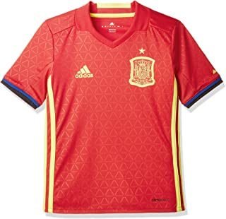 adidas Spain UEFA Euro 2016 Home Jersey - Youth - Scarlet Red/Bright Yellow -