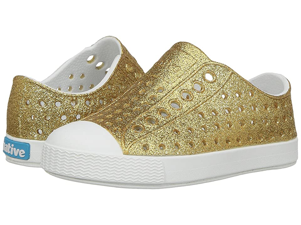 Native Kids Shoes Jefferson Bling Glitter (Toddler/Little Kid) (Gold Bling/Shell White) Girls Shoes