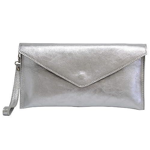 da1b09472c46 Brand Verapelle Genuine Italian Suede Large Envelope Shaped Clutch bag  Purse handbag Rebecca Clutch Party Prom