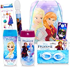 Disney Frozen Bath and Brush Bundle ~ 5 Pc Frozen Bath and Beauty Set Including Frozen Body Wash Hair Brush Disney Frozen Bathroom Decor and More! Shampoo