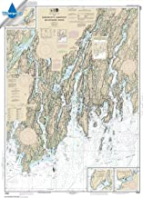 Paradise Cay Publications NOAA Chart 13293: Damariscotta: Sheepscot and Kennebec Rivers; South Bristol Harbor; Christmas Cove, 34.6 X 48.1, WATERPROOF