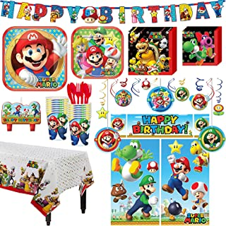 Super Mario Birthday Party Kit, Includes Happy Birthday Banner and Decorations, Serves 16, by Party City