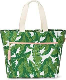 Waterproof Carryall Oversized Tote - Beach Bag with Zipper Pockets - Pool, Shopping, Gym, Travel Tote