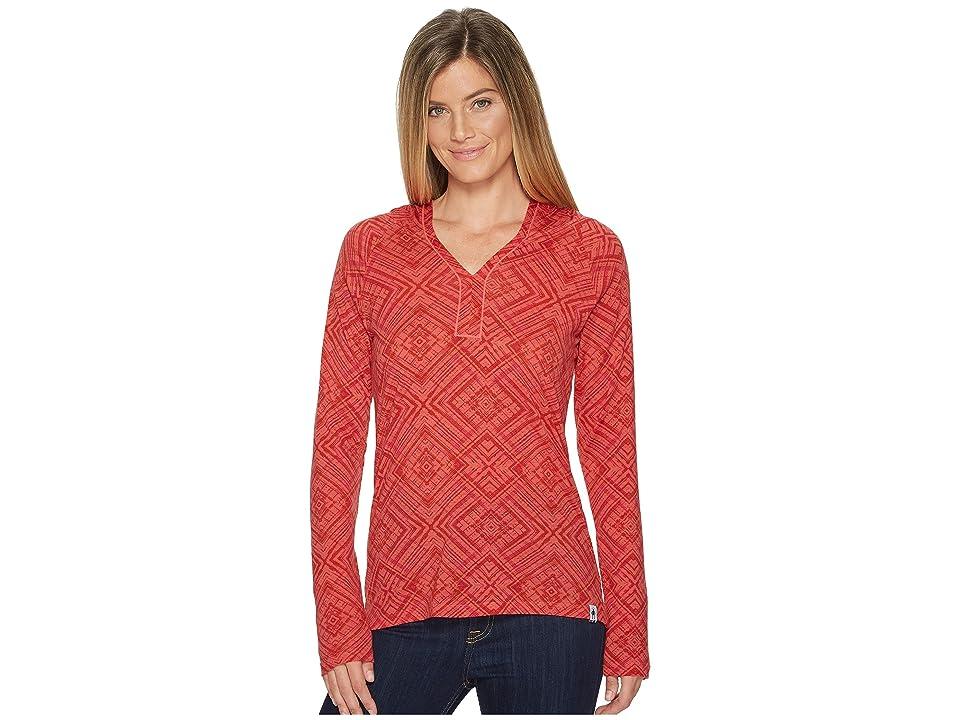 Smartwool Merino 150 Pattern Hoodie (Bright Coral) Women