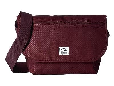 Herschel Supply Co. Grade Mid-Volume (Plum Dot Check) Messenger Bags