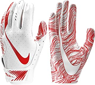 NIKE Adult Vapor Jet 5.0 Receiver Gloves 2018 (White/University Red, Large)