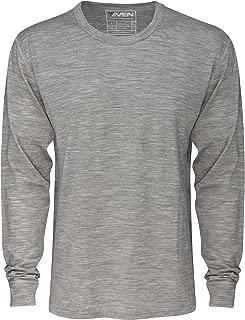 7EVEN Clothing Co Mens 100% Lightweight Merino Wool Long Sleeve Shirt 190 GSM