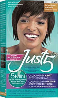 Just 5 Women's 5 Minute Permanent Hair Color, Darkest Brown
