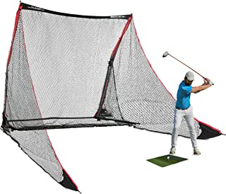 Rukket 4pc Golf Bundle | 10x7ft SPDR Driving Net | Tri-Turf Hitting Mat | Barrier Protective Wings | Carry Bag | Practice ...