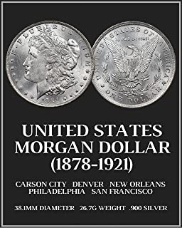 U.S. Morgan Silver Dollar Coin Poster, 16