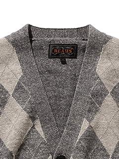 Argyle Cotton V-neck Cardigan 11-15-1349-156: Grey