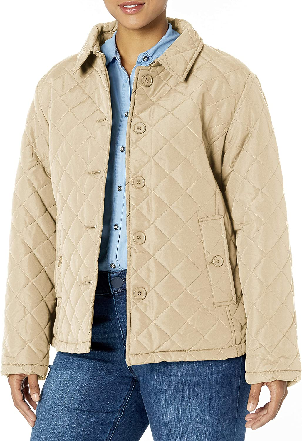 Big Chill Women's Diamond Ranking TOP16 Quilted Atlanta Mall Collar Fold Jacket with