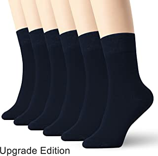 6 Pack Thin High Ankle Cotton Socks Women Men LightWeight