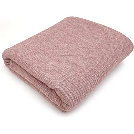 """PuTian Wool Blend Throw Blankets - Travel Size Soft Cozy Summer Lightweight Thin Throw - Perfect for Couch Bed Toddler Dog(Red Pink Twill, 59"""" X 51"""")"""
