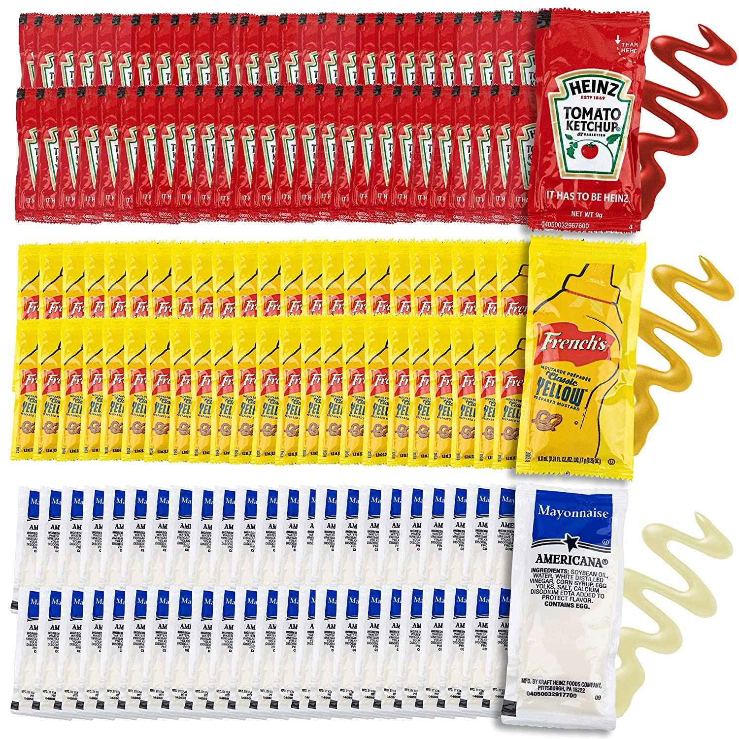 Grab-n-Go Condiment Packs Max 58% OFF - Fees free!! 50 Single Serve Ket Pouches Each: of