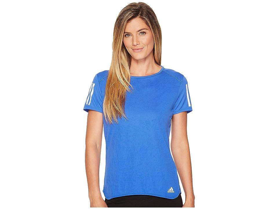 adidas Response Short Sleeve Tee (High-Res Blue) Women