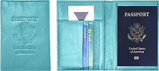 Genuine Cowhide Leather Passport Cover Case Holder & Wallet for Men & Women
