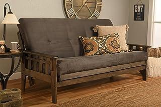Kodiak Furniture Tucson Full Size Futon Set in Rustic Walnut Finish, Suede Gray