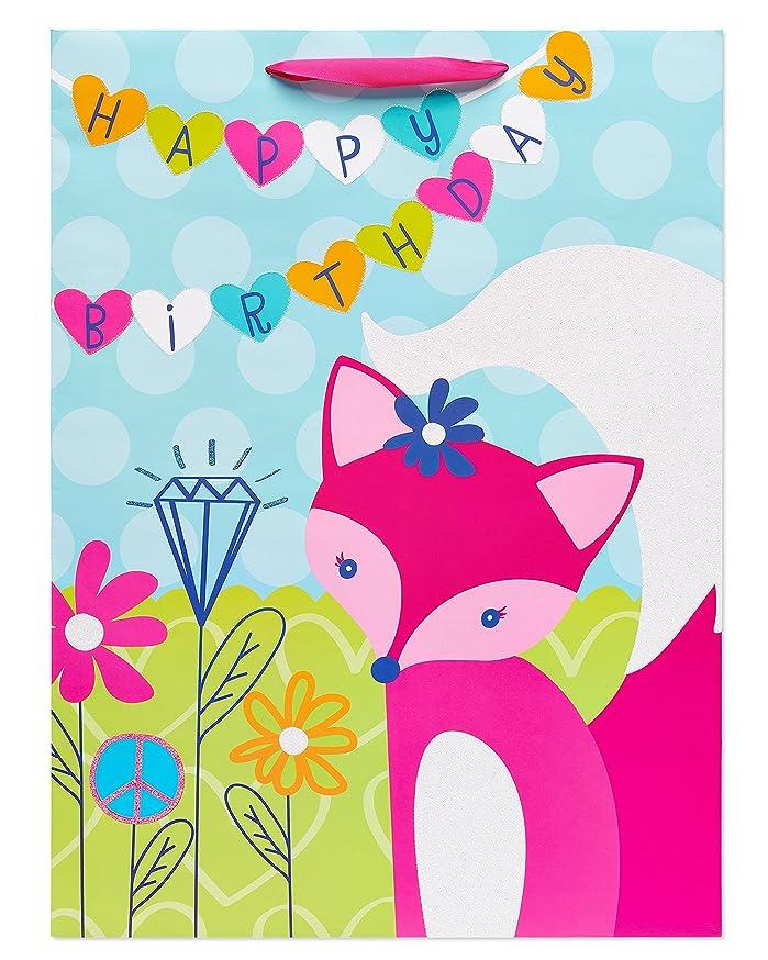 American Greetings Pink Fox Gift Bag