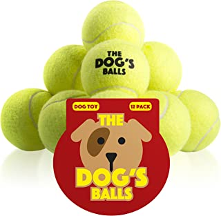 The Dog's Balls, Dog Tennis Balls in 3 Sizes, 4 Colors, Quality Dog Toys, Premium Strong Dog & Puppy Balls for Training, Play, Exercise and Fetch