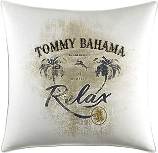 Tommy Bahama Palms Away Relax Print Throw Pillow, 20x20, Light Beige