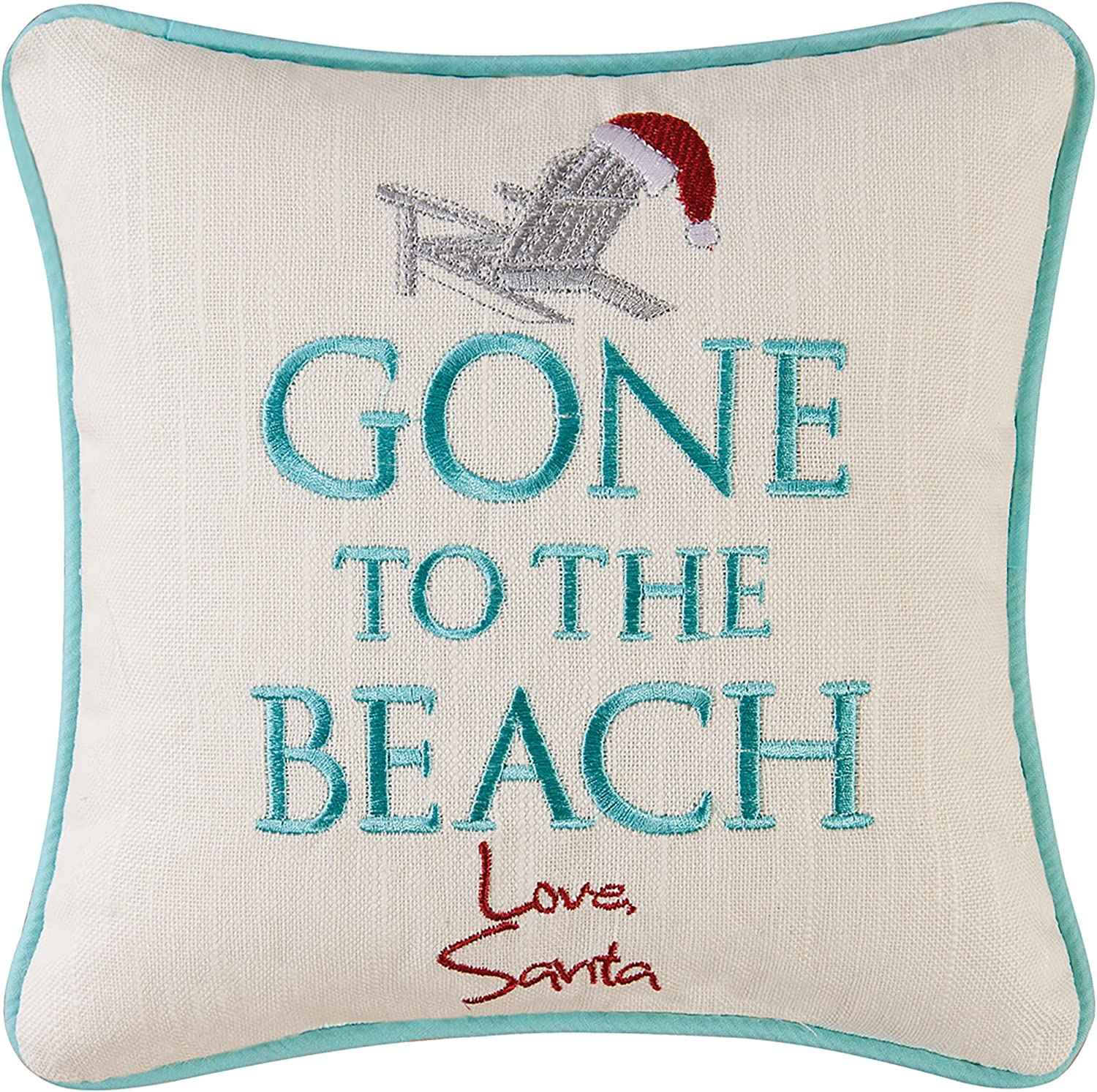 CF Home Gone to Dedication The Beach Embroidere Coastal Year-end gift Santa Love Holiday
