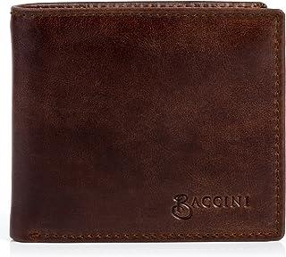 BACCINI Geldbeutel echt Leder Leandro Querformat Brieftasche Geldbörse Ledergeldbeutel Herren braun
