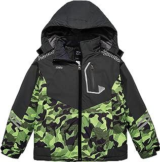Boy's Hooded Ski Jacket Outdoor Waterproof Winter Fleece Lined Snow Coat