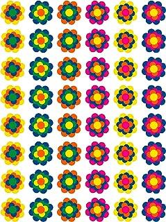 48 Prilblumen Aufkleber 30 mm, Retro Style 70er Jahre Kult, Wandsticker