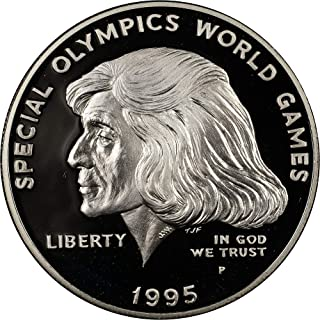 1995 P Special Olympics World Games Commemorative Proof Silver Dollar DCAM US Mint
