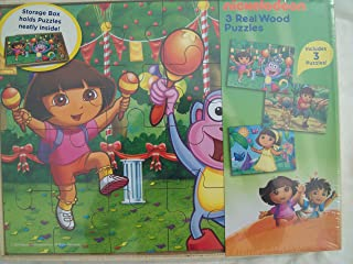 Nickelodeon 3 Real Wood Puzzles - Dora, Boots and Diego - 24 Pieces Each