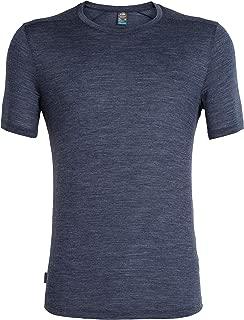 Icebreaker Merino Men's Sphere Short Sleeve Crew Neck Shirt, Black HTHR, Large