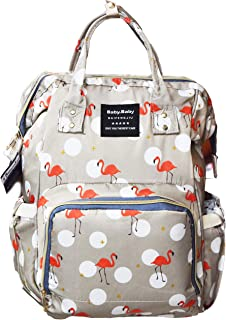 BabyMoon Multifunctoin Unisex Large Capacity Waterproof Diaper Backpack Bag with Insulated Pockets