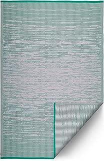 Fab Habitat Reversible, Indoor/Outdoor Weather Resistant Floor Mat/Rug - Brooklyn -Mint (4' x 6')