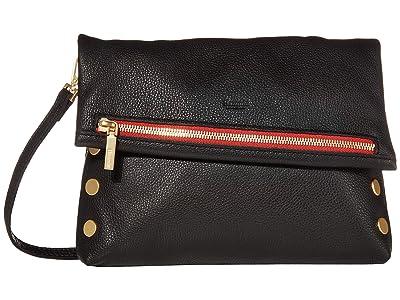 Hammitt VIP Medium (Black/Brushed Gold/Red Zip) Handbags