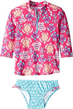 Pretty Sea Turtles Rashguard Set (Toddler/Little Kids/Big Kids)
