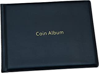 Coin Storage Album - Rare Coin Holders Book - Coins Collection for Collectors (Black, 240 Coin Holders)