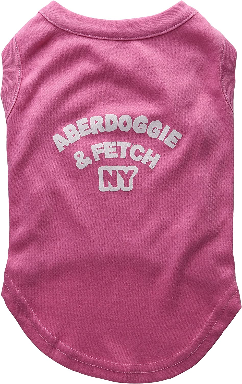 Mirage Pet Products 14Inch Aberdoggie NY Screenprint Shirts, Large, Bright Pink