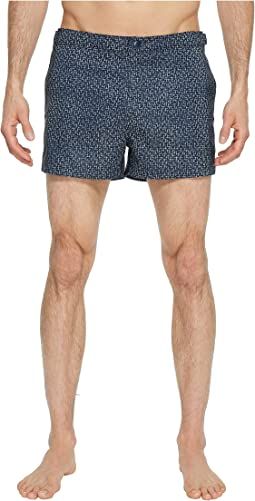 Original Penguin - Crosshatch Print Swim Trunk