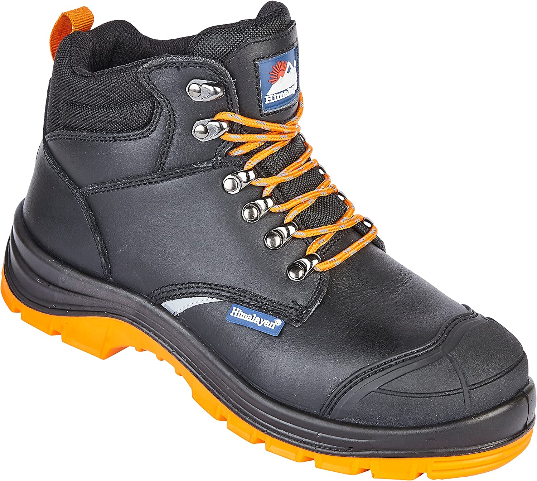 Himalaya 5400 S1P SRC Premium svart läder Reflecto Reflecto Reflecto Steel Toe Cap Security stövlar  rabattbutik