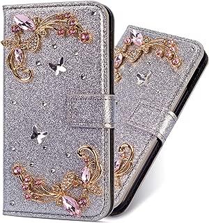 Diamond Sparkle Funkeln Bling f/ür Samsung J6 Plus 2018,Glitter Glitzer Ledertasche Stand Funktion Kartenfach Magnetverschluss Bookstyle Slim Klassisch Modisch Flip Wallet H/ülle Schutzh/ülle