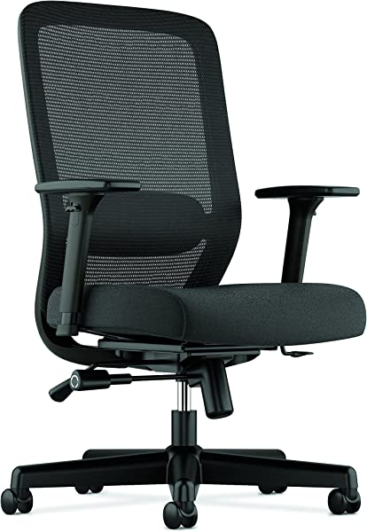 HON BSXVL721LH10 Exposure Mesh Task Chair Computer Chair With 2 Way Adjustable Arms For Office Desk Black HVL721