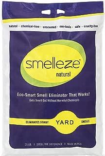SMELLEZE Natural Yard Smell Removal Deodorizer Granules: 25 lb. Bag Sprinkle in Yard