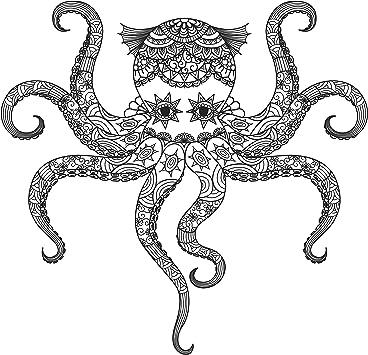 Octopus Squid Decal Sticker Choose Pattern Size #485