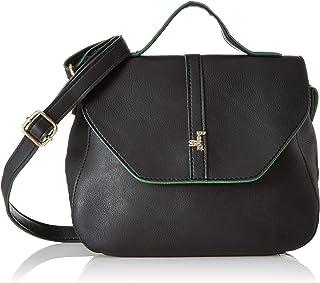 Baggit Women's Sling Bag (Black-Green) (Unitsnits 1)