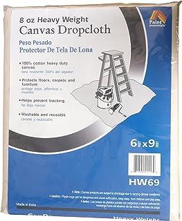 Galaxy Products HW69 Paintessentials Canvas Drop Cloth, 6 x 9-Feet, Natural
