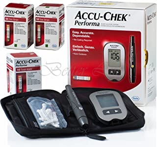 Accu Chek Performa Glucometer Kit with 110 Test Strips