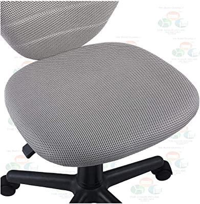 The Chair House - Armless Desk Chair Computer Chair in Grey, Height-Adjustable Revolving Chair
