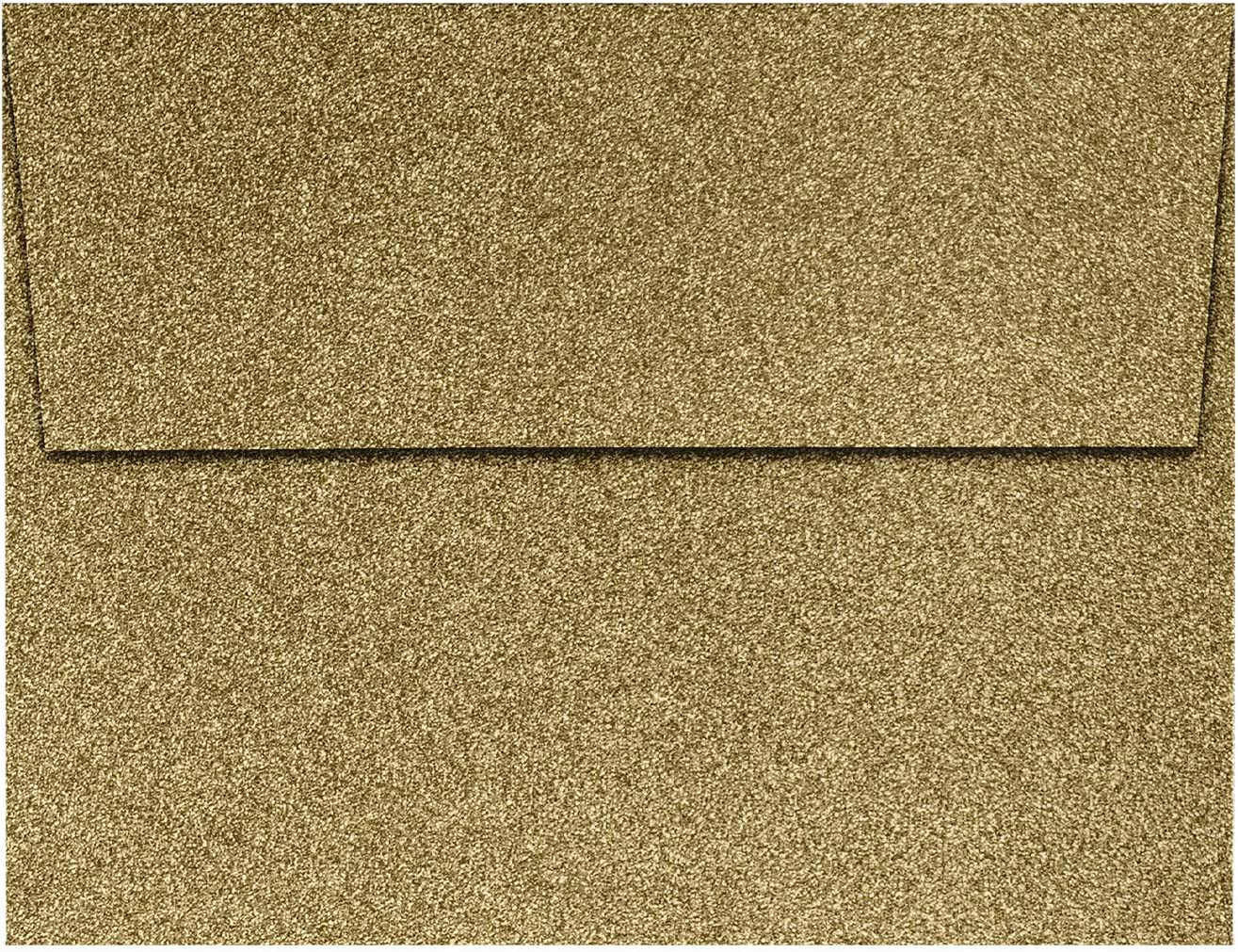 LUXPaper A2 Invitation San Diego Mall Envelopes in 90lb. for 4 1 Special sale item Gold Sparkle