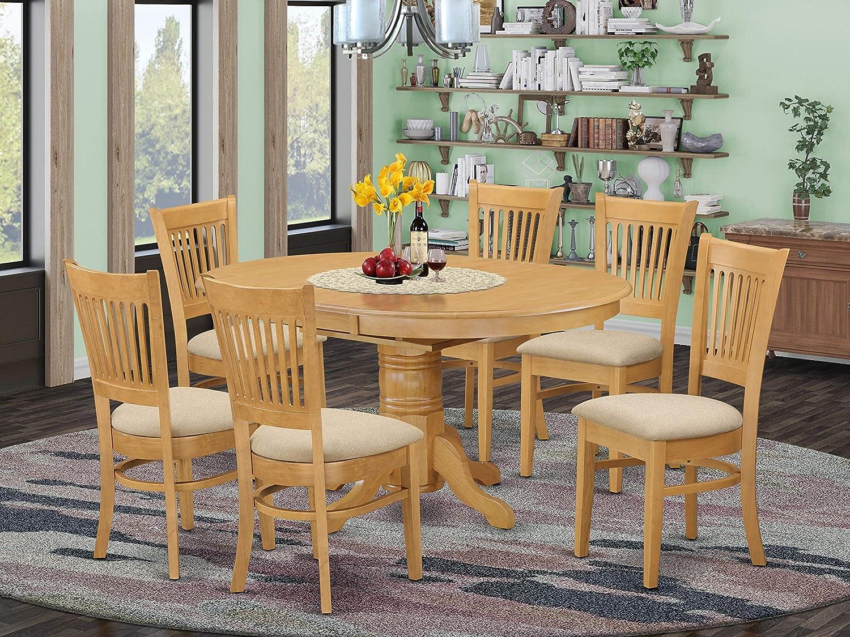Amazon.com East West Furniture AVVA9 OAK C mid century dining ...